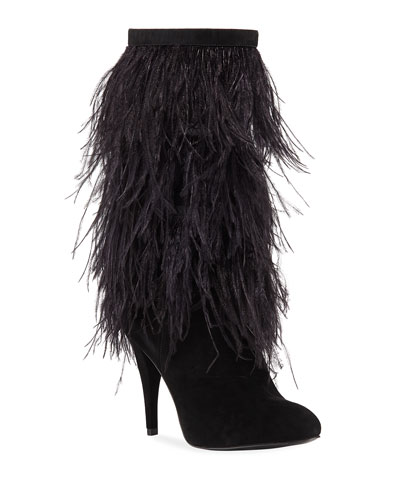 Asha Tall Feather Booties
