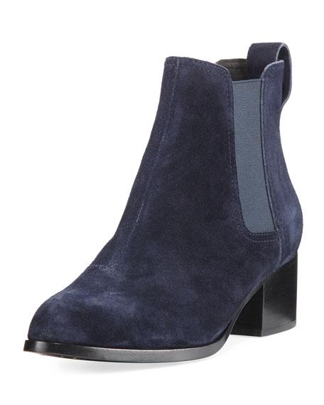 Walker Suede Block-Heel Chelsea Boots
