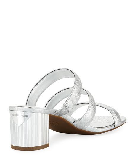 Paloma Flex Cracked Metallic Leather Sandal