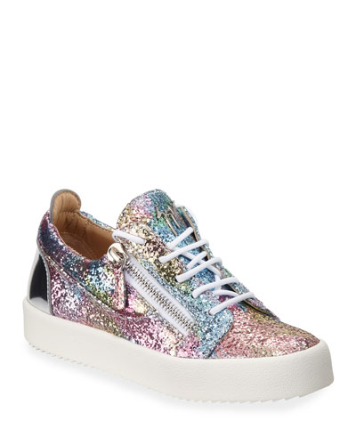 Glitter Low-Top Sneakers