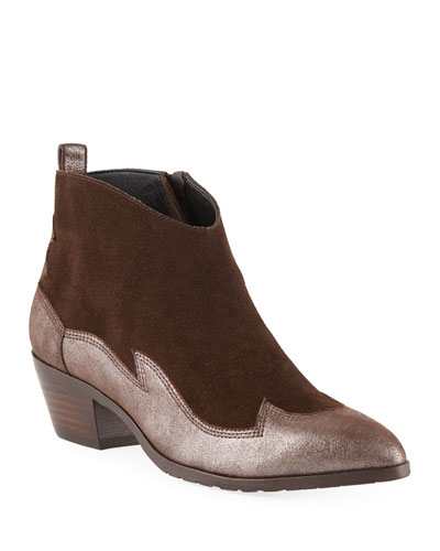 Drey Western Suede & Leather Booties