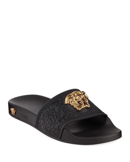 Versace Palazzo Medusa Pool Slide Sandals