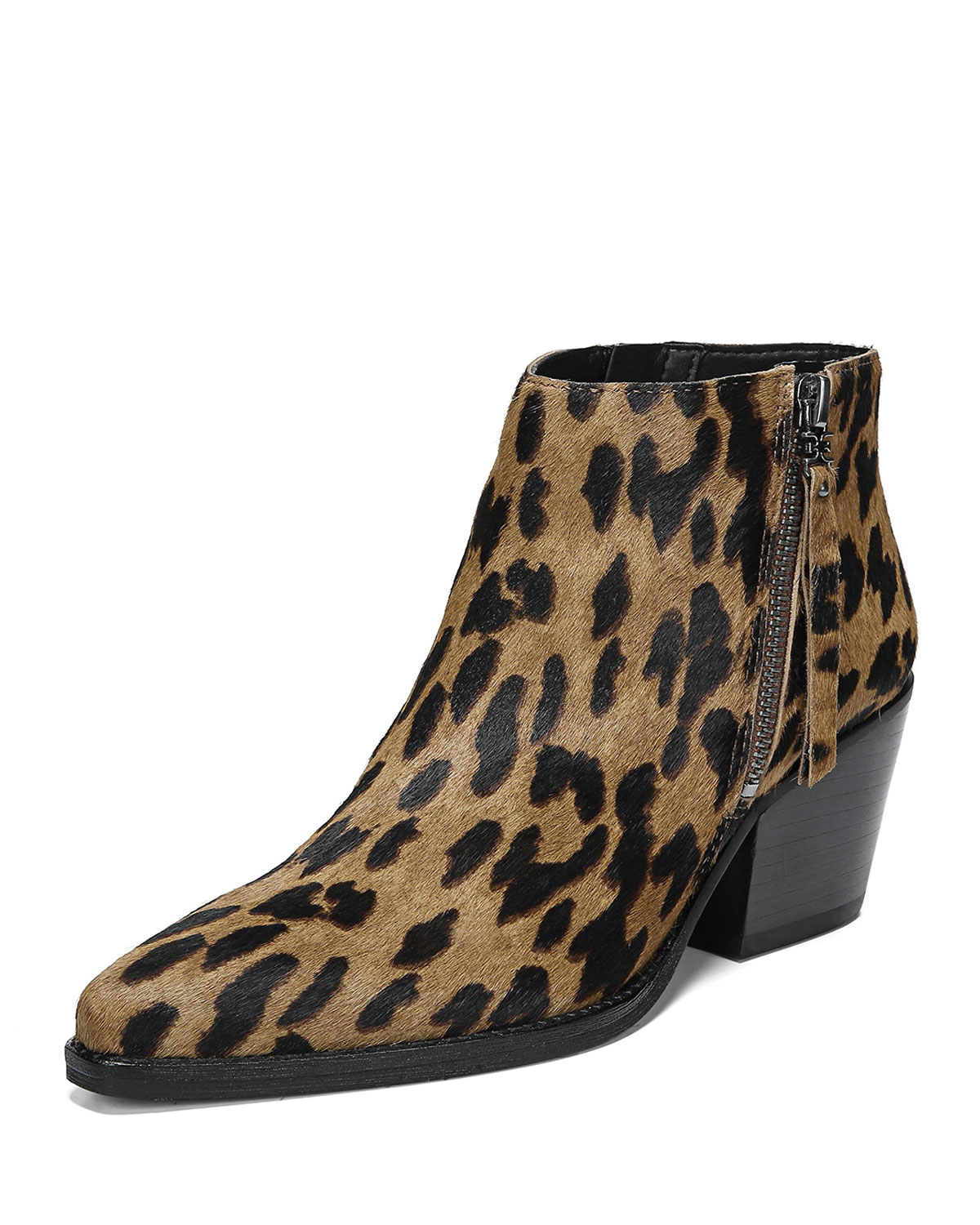 a1f1c8f2d Sam Edelman Walden 60mm Leopard Zip Booties