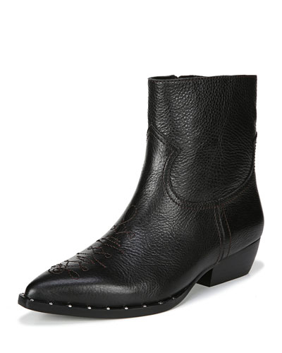 Ava 30mm Western Ankle Boots