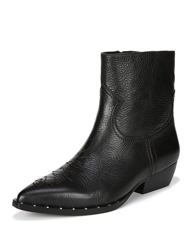 de2874544 Sam Edelman Ava 30mm Western Ankle Boots