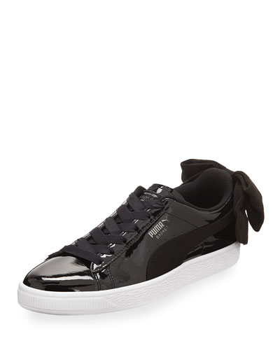 Basket Bow Patent Sneakers