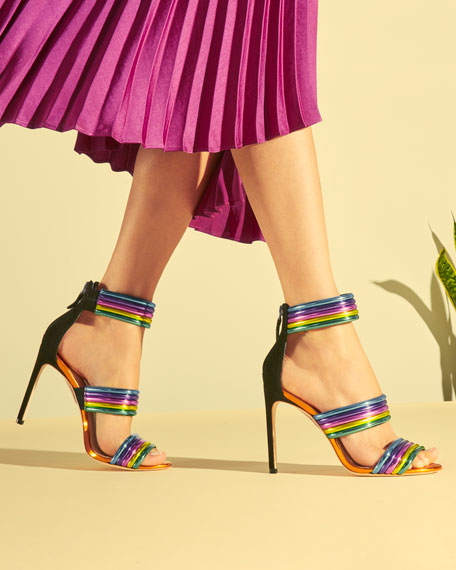 Sophia Webster Joy Colorblock Neon Sandals Neiman Marcus