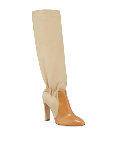 Fabric Over-The-Knee Boots