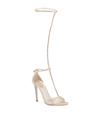 To-The-Knee Crystal Sandals