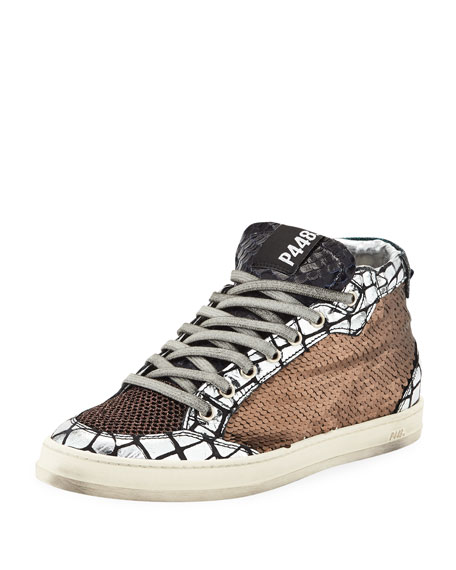 P448 Love Platform Mixed Media Sneakers