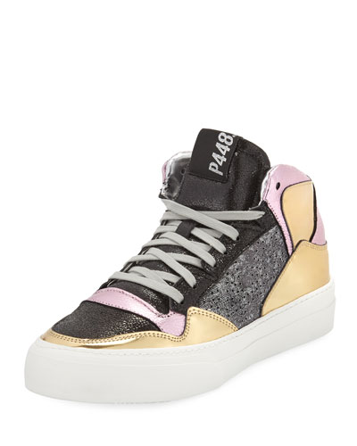 Space Ros Mixed High-Top Sneakers