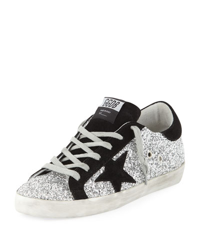 Superstar Glittered Platform Sneakers