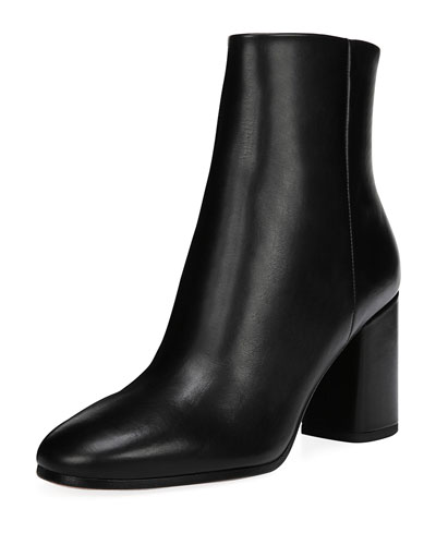 Robyn Leather Block-Heel Boots