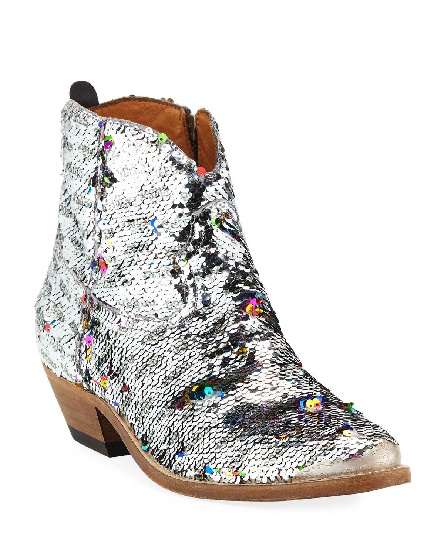 Golden Neiman Western Marcus Boots Goose Sequin Young qCwBaq