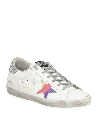 Superstar Rainbow Platform Lace-Up Sneakers