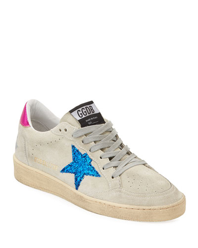 Ball Star Glitter & Suede Sneakers