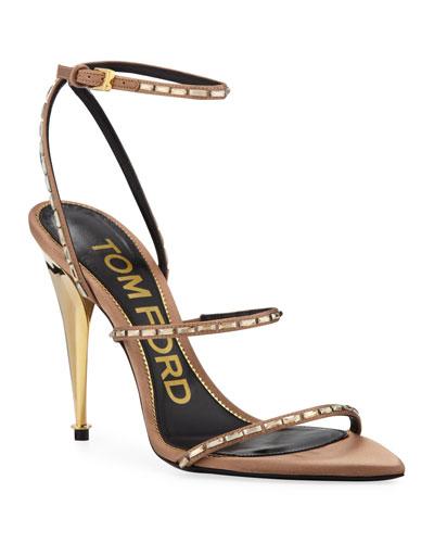 Embellished Pointed-Toe Sandals