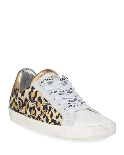 Leo Wild Platform Sneakers