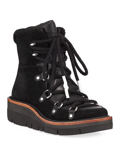 Skyler Fur-Trimmed Water-Resistant Suede Boots