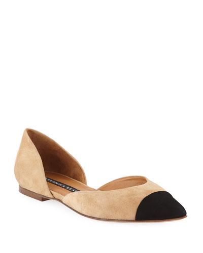 Leonie Suede Ballet Flats