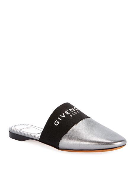 Givenchy Flat Metallic Logo Mules