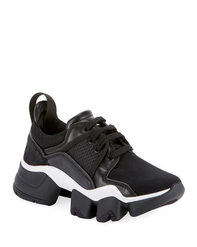 Mixed Media Chunky Sneakers