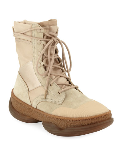A1 Mixed Tall Combat Boots