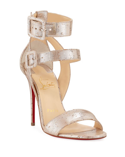 Multipot 100 Cork Red Sole Sandals