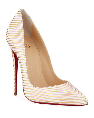 So Kate 120mm Painted Leather Red Sole Pumps
