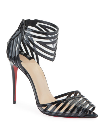 Maratena 100 Patent/PVC Red Sole Sandals