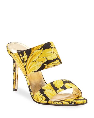 Hibiscus Slide Mule Sandals