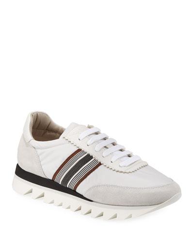 Nylon Techno Rubber Sneakers