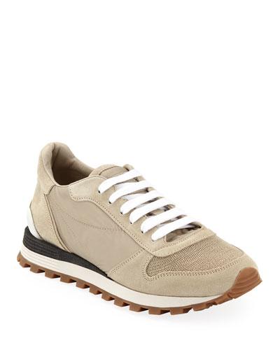 Nylon Techno Runner Sneakers