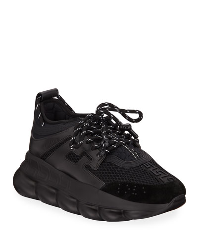 Chain Reaction Mesh Chunky-Heel Sneakers
