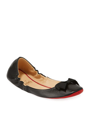c9b2e8eee68 Christian Louboutin Air Loubi Red Sole Ballet Flats