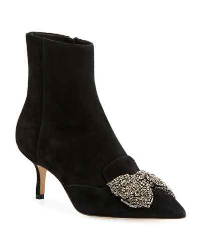 Esme 65mm Point-Toe Booties
