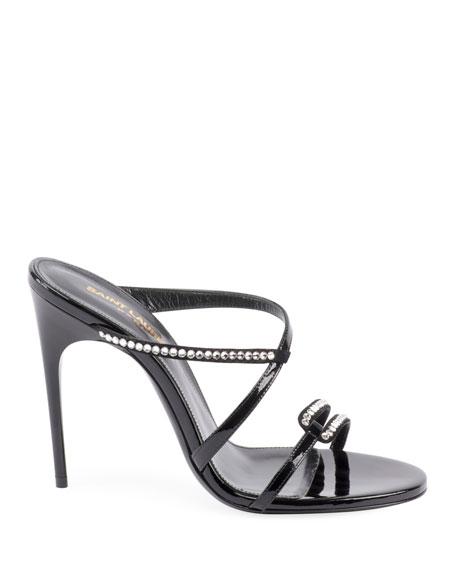 Paris Embellished Slide Sandals