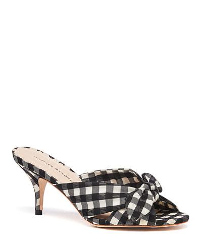 Luisa 55mm Knotted Slide Sandals