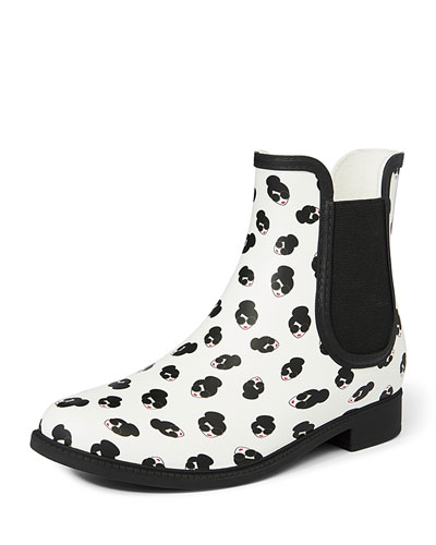 Rainely Rubber Gored Rain Boots