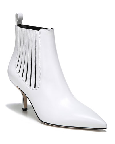 Mollo Point-Toe Leather Ankle Boots