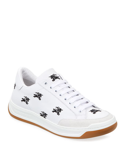 Timsbury Knight Embroidered Leather Sneakers