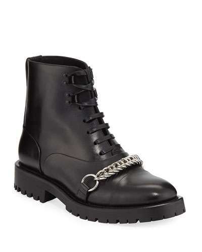 Barke Lace-Up Booties with Chain