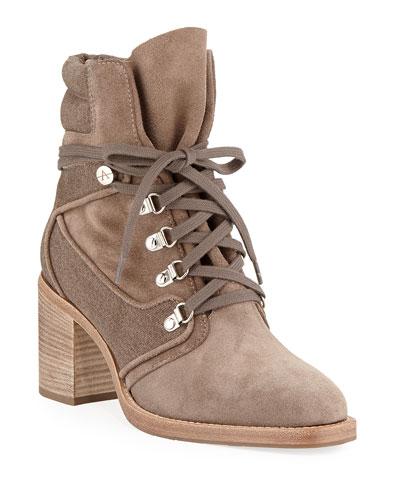 Elise Weatherproof Suede/Canvas Boots