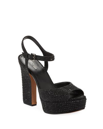 Bennett Crystal Platform Sandals