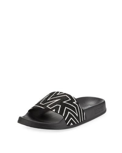 Gilmore Crystal Logo Pool Slide Sandals