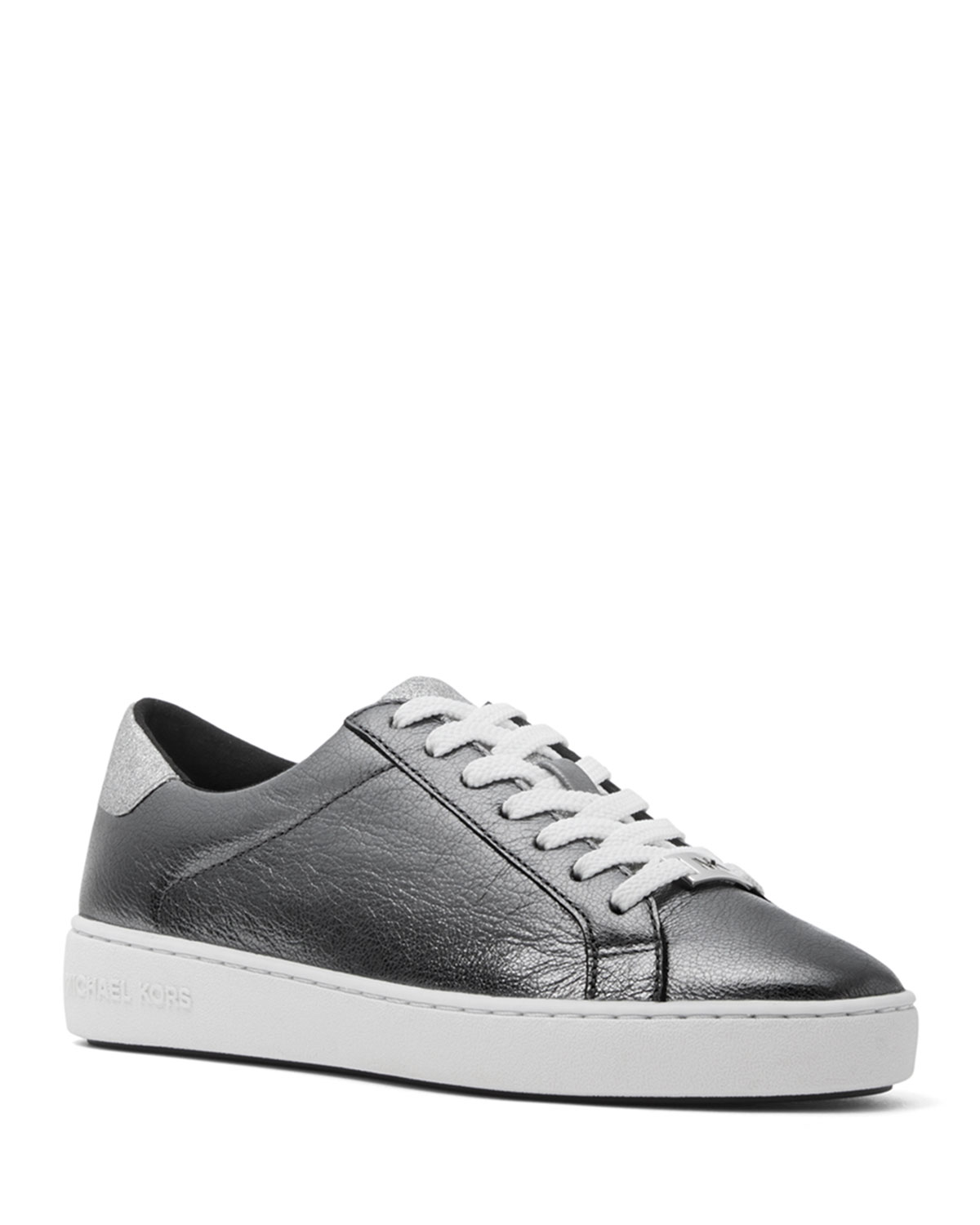 MICHAEL Michael Kors Irving Metallic Leather Low-Top Sneakers ... b62f3607e