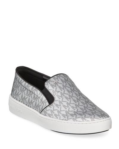 Keaton Logo-Print Slip-On Sneakers