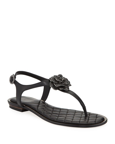 Lucia Leather Thong Sandals