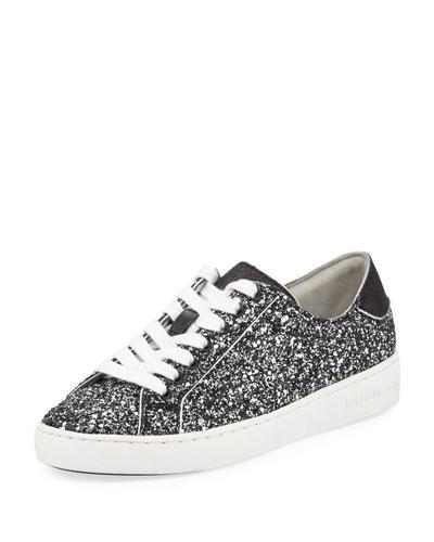 Harper Glitter Lace-Up Sneakers