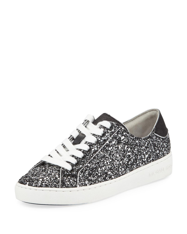 cb4d3db33b781 MICHAEL Michael Kors Harper Glitter Lace-Up Sneakers